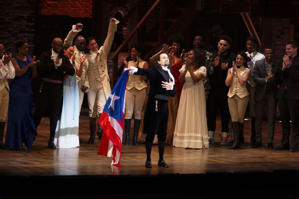 PHOTO: The cast of Hamilton is pictured in San Juan, Puerto Rico, Jan 12, 2019.